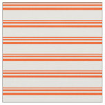[ Thumbnail: Red and Mint Cream Lined/Striped Pattern Fabric ]
