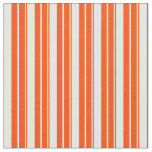 [ Thumbnail: Red and Mint Cream Striped/Lined Pattern Fabric ]