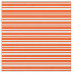 [ Thumbnail: Red and Mint Cream Stripes Fabric ]