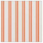 [ Thumbnail: Red and Mint Cream Stripes/Lines Pattern Fabric ]