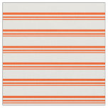 [ Thumbnail: Red and Mint Cream Stripes Pattern Fabric ]