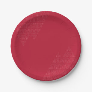 Red and modern paper plate  sc 1 st  Zazzle : modern paper plates - pezcame.com