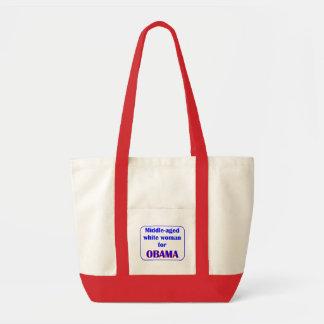 Red and Natural Tote Bag