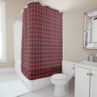 Navy Plaid Shower Curtains Zazzle