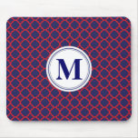 Red and Navy Mousepad