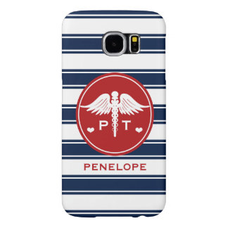 RED AND NAVY STRIPE PHYSICAL THERAPY PT SAMSUNG GALAXY S6 CASE