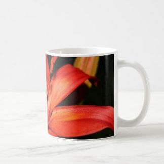 Red and Orange Asiatic Lily Closeup Coffee Mug