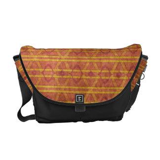 Red and Orange Aztec Pattern Messenger Bag