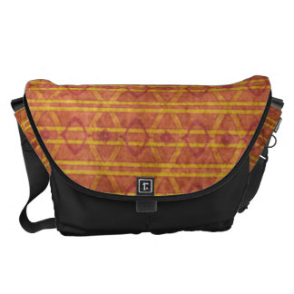 Red and Orange Aztec Pattern Messenger Bags