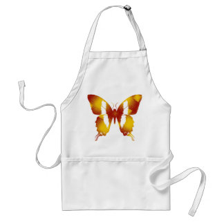 Red and Orange Butterfly Apron