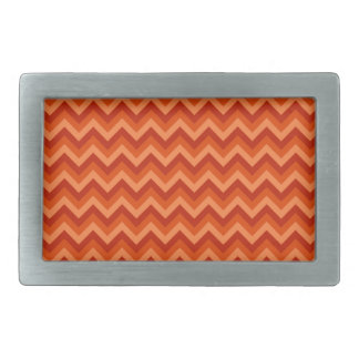Red and Orange Chevron Stripes. Belt Buckle