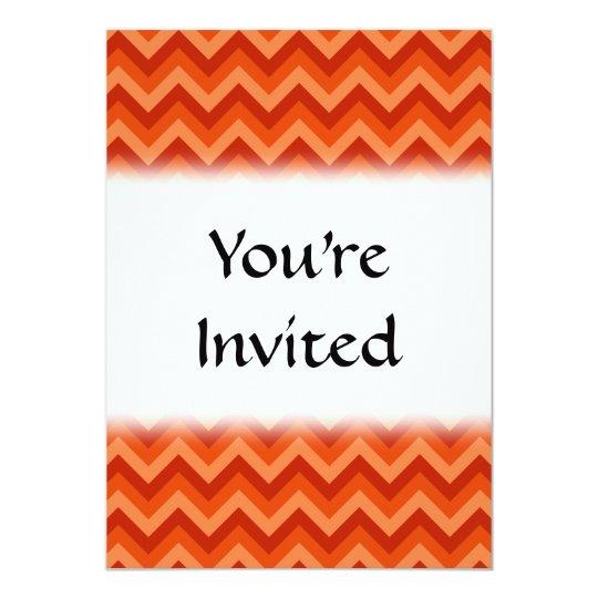 Red and Orange Chevron Stripes. Card