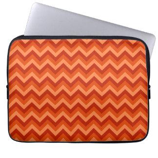 Red and Orange Chevron Stripes. Laptop Sleeves