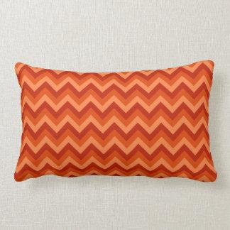 Red and Orange Chevron Stripes. Pillow