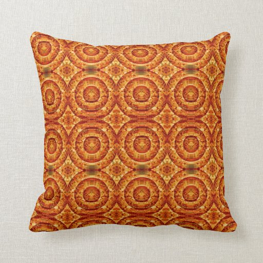 Red And Orange Decorative Pillows : Red and Orange Circle Pattern Throw Pillows Zazzle
