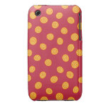 Red and Orange Circle Polka Dots iPhone 3 Case-Mate Cases