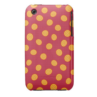 Red and Orange Circle Polka Dots iPhone 3 Case-Mate Case