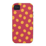 Red and Orange Circle Polka Dots iPhone 4/4S Cases