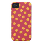 Red and Orange Circle Polka Dots iPhone 4 Cover
