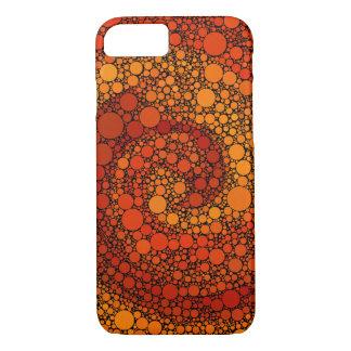 Red and Orange Circles Geometric Pattern iPhone 7 Case