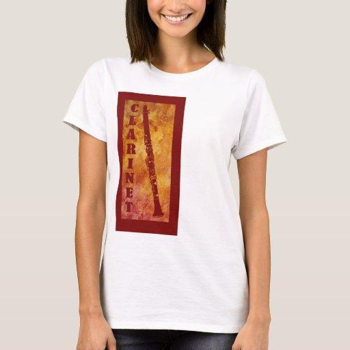 Red And Orange Clarinet T Shirt Zazzle