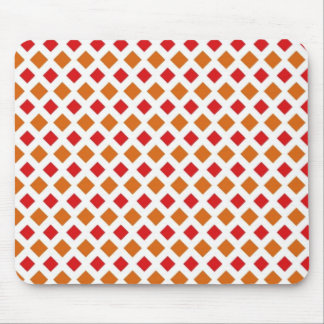 Red and Orange Diamond Mouse Pad