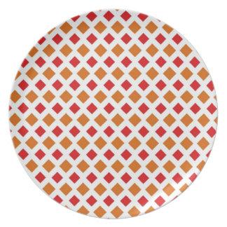 Red and Orange Diamond Plate