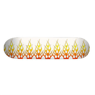 Red and Orange Flames of Fire Pattern Skateboard
