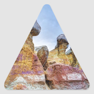 Red and Orange Hoodoos Triangle Sticker