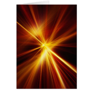 Red and Orange Laser Starburst Card