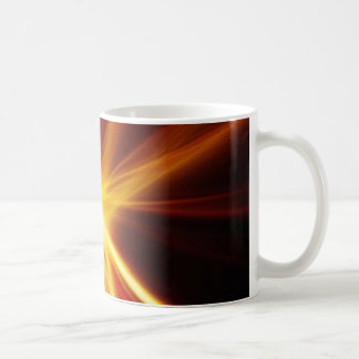 Red and Orange Laser Starburst Coffee Mug