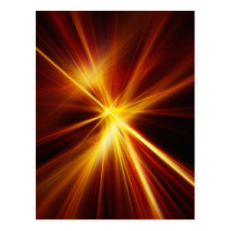 Red and Orange Laser Starburst Postcard