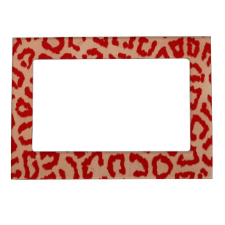 Red and Orange Leopard Magnetic Photo Frame