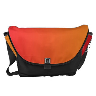 Red And Orange Ombre Large Courier Bag