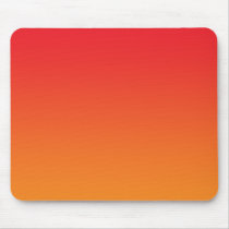 """Red And Orange Ombre"" Mouse Pad"
