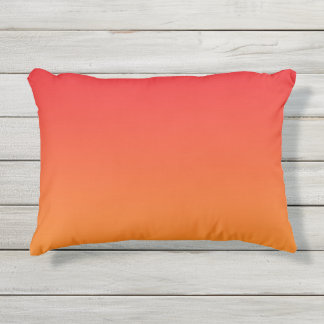 Red And Orange Ombre Outdoor Pillow