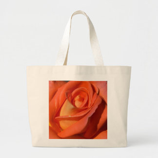 Red And Orange Rose Canvas Bags