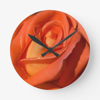 Red And Orange Rose Wall Clocks