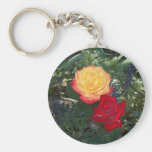 Red and Orange Roses Keychain