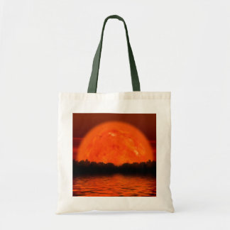 Red and Orange Sky with Water Reflecting Tote Bag