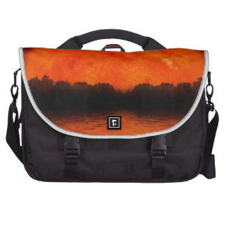 Red and Orange Sky with Water Reflecting Laptop Commuter Bag