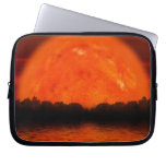 Red and Orange Sky with Water Reflecting Laptop Computer Sleeve