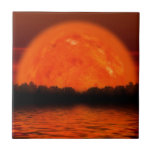 Red and Orange Sky with Water Reflecting Ceramic Tile
