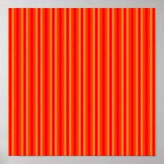 Red and Orange Stripey Hippie Pattern Print