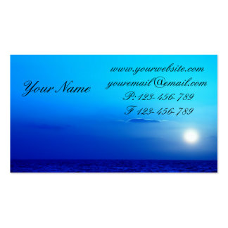 Red and orange sunset over the Sea Double-Sided Standard Business Cards (Pack Of 100)
