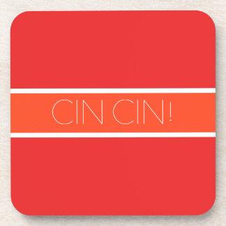 Red and Orange Toast Beverage Coaster