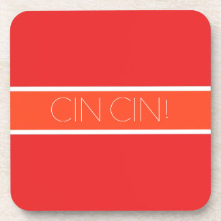 Red and Orange Toast Drink Coaster