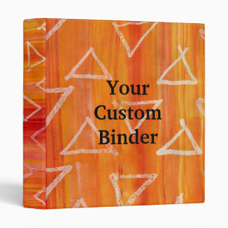 Red and Orange Tribal Print Background 3 Ring Binder