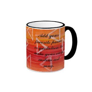 Red and Orange Tribal Print Background Coffee Mugs