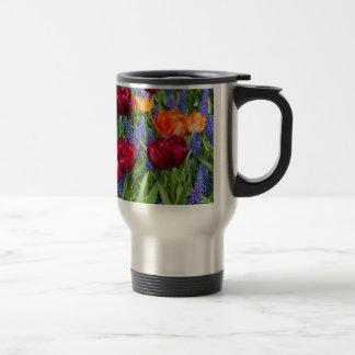 Red And Orange Tulips Travel Mug